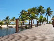 Tropical Island Footbridge royalty free stock photos