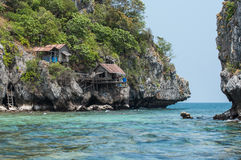 Tropical Island in Gulf of Thailand. Chumporn, Thailand Royalty Free Stock Image