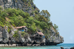 Tropical Island in Gulf of Thailand. Chumporn, Thailand Royalty Free Stock Photo