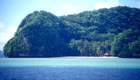Tropical Island Home Stock Photo