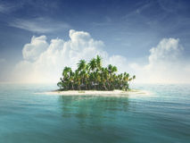 Tropical island Royalty Free Stock Image