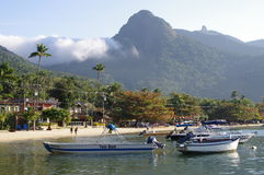 Tropical island Ilha Grande in Brazil Royalty Free Stock Images