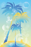 Tropical island illustration Stock Photo