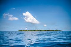 Tropical island on the Indian Ocean, Maldives Royalty Free Stock Photo