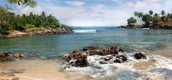 Tropical island in the Indian Ocean. Stock Image