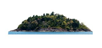 Free Tropical Island Isolated On White Stock Photos - 101330023