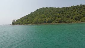 Koh rong island in cambodia. Tropical island koh rong in cambodia stock video