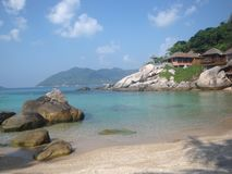 Tropical island Koh Tao, Thailand. Exotic beach, turquoise water, tropical nature stock photo