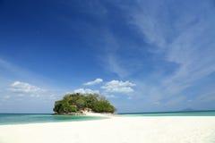 Tropical island in krabi,thailand. Tropical island (cay) and white sand in krabi,thailand Stock Photo