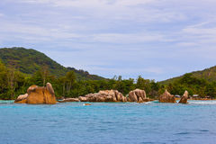 Tropical island La Digue - Seychelles Royalty Free Stock Photography