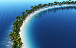 Tropical island lagoon Royalty Free Stock Images
