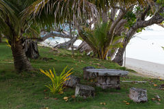 Tropical island - lagoon Benga Island. Fiji Royalty Free Stock Images