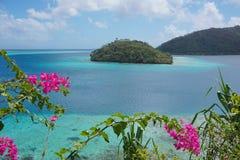 Tropical island lagoon Huahine French Polynesia Stock Image