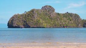 Tropical Island loop. In ocean, Asia stock video footage
