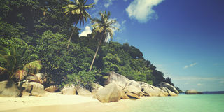 Tropical Island Malaysia Traveling Trip Concept Royalty Free Stock Photos