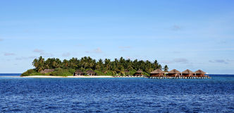 Tropical island on the Maldives Stock Photography