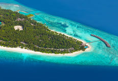 Tropical island at Maldives Royalty Free Stock Photos