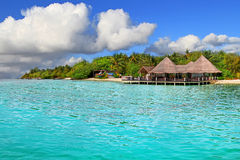 Tropical island of Maldives royalty free stock images
