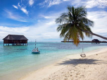 Tropical island. Maldives Stock Images