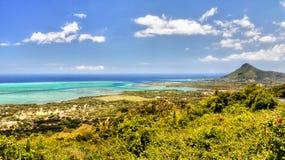 Tropical Island Mauritius Aerial Panoramic View stock photos