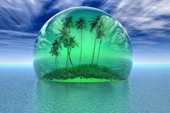 Tropical island - Nature in danger Royalty Free Stock Images