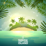 Tropical island nature poster Stock Images