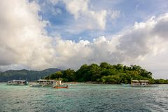 Tropical island near the island of Coron. Palawan, Philippines Royalty Free Stock Photography