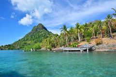 Tropical island near Sipadan Island Royalty Free Stock Photo