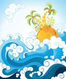 Tropical island in the ocean Stock Images