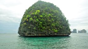 Tropical island. In the ocean stock video footage