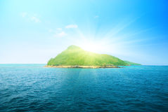 Tropical island and ocean Stock Photo