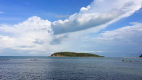 Tropical island in ocean stock video