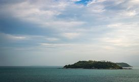 Tropical island in the sea Stock Photography