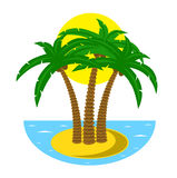 Tropical island at the ocean Stock Image
