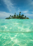 Tropical island in the ocean Stock Photo