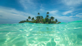 Tropical island in the ocean Stock Image