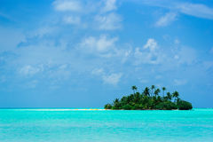 Tropical island in the ocean Royalty Free Stock Photo