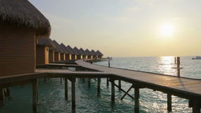 Tropical island at ocean. Maldives Royalty Free Stock Photography