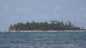 Tropical Island In Ocean. Stock video in 4k or HD resolution stock video