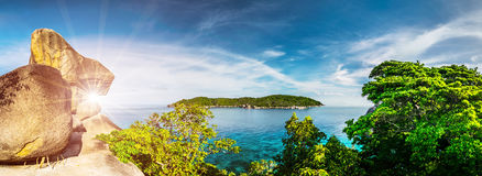 Tropical island in ocean Royalty Free Stock Images