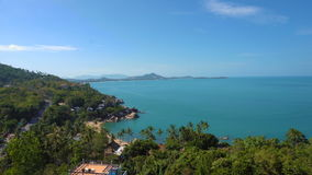 Tropical island overview. Panorama shot stock video