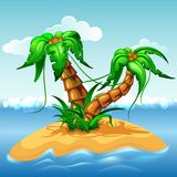 Tropical island with palm trees. Stock Photography