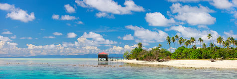 Tropical island panorama Stock Image