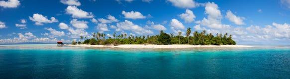 Tropical island panorama royalty free stock photo