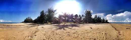 Tropical island panorama Royalty Free Stock Photography