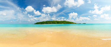 Tropical island panorama Stock Images