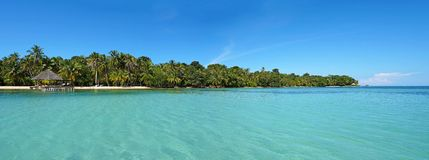 Tropical island panoramic Royalty Free Stock Photos