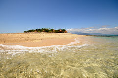 Tropical island paradise. South Sea Island tropical paradise in Fiji Royalty Free Stock Images
