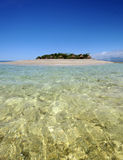 Tropical island paradise. South Sea Island tropical paradise in Fiji Royalty Free Stock Photo
