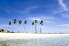 Tropical Island Paradise Royalty Free Stock Photography